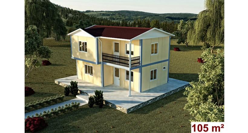 Çift Katlı 105m2 Prefabrik Ev