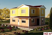 iki katlı prefabrik ev