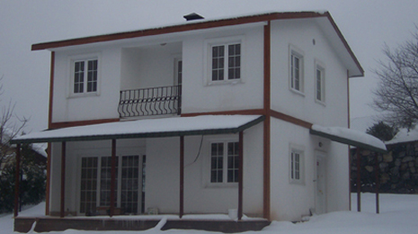 çift katlı prefabrik ev