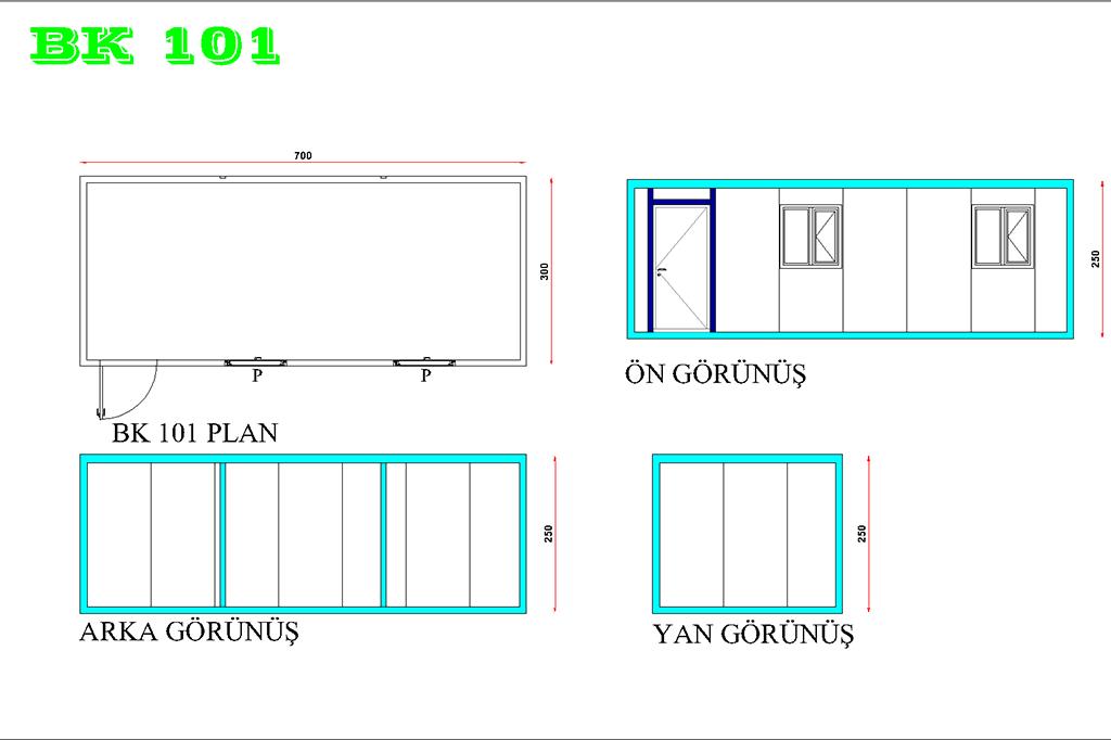 Ofis Konteyner BK 101 Modeli