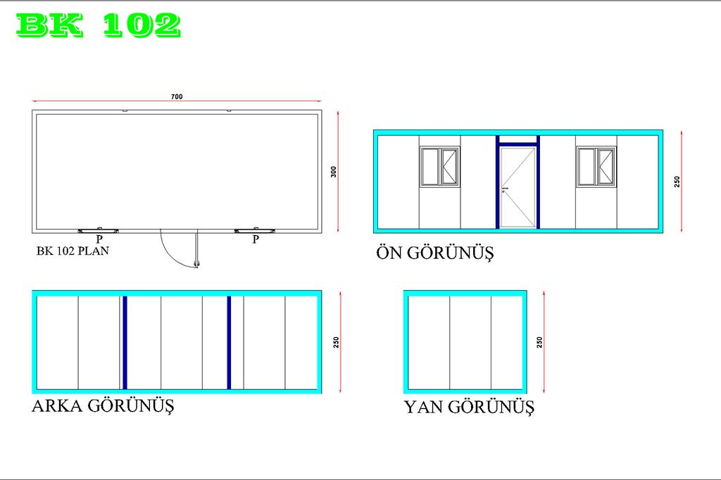 Yatakhane Konteyneri BK 102 Modeli