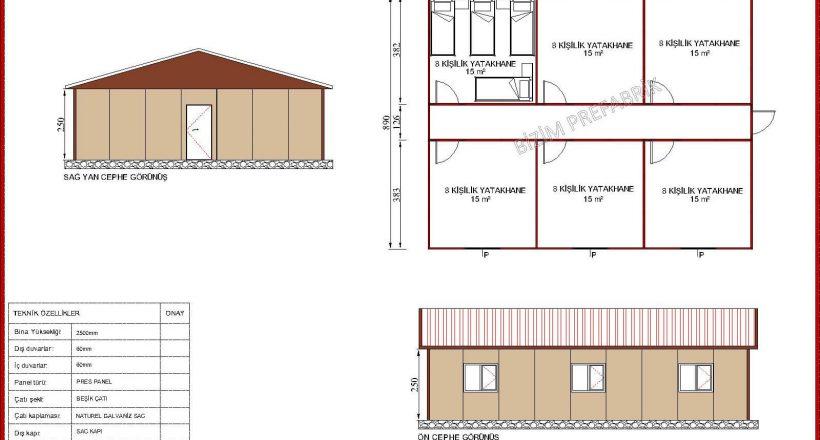 prefabrik yatakhane projeleri bzm 101