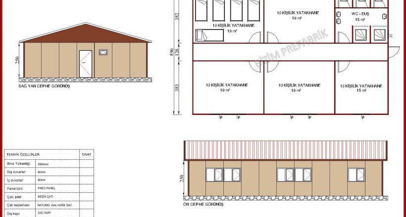 prefabrik yatakhane projeleri bzm 102