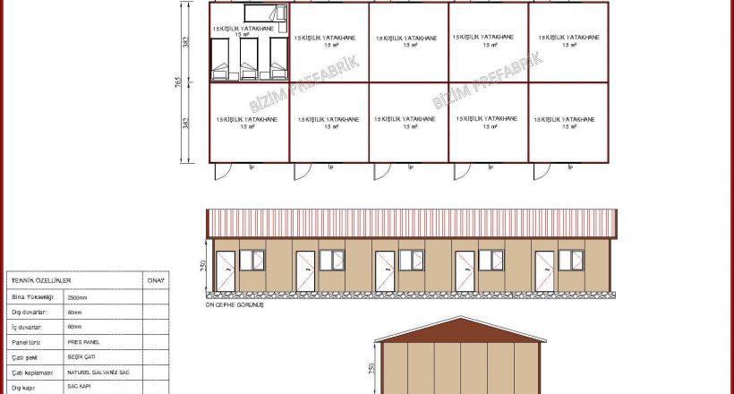 prefabrik yatakhane projeleri bzm 103