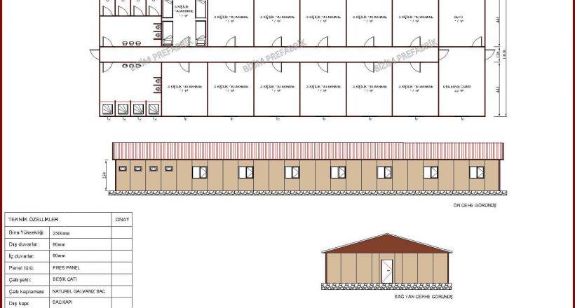 prefabrik yatakhane projeleri bzm 109