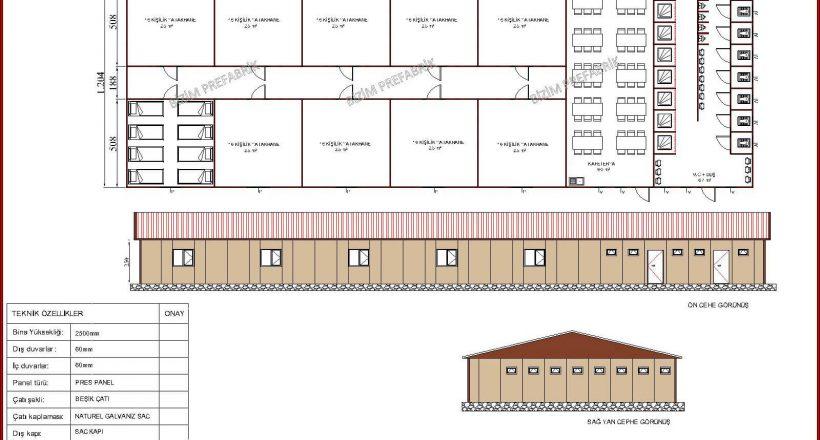 prefabrik yatakhane projeleri bzm 110