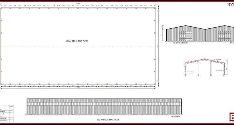 Çelik Yapı Hangar Projeleri 700m2