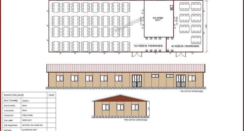 prefabrik yemekhane projeleri bzm 106