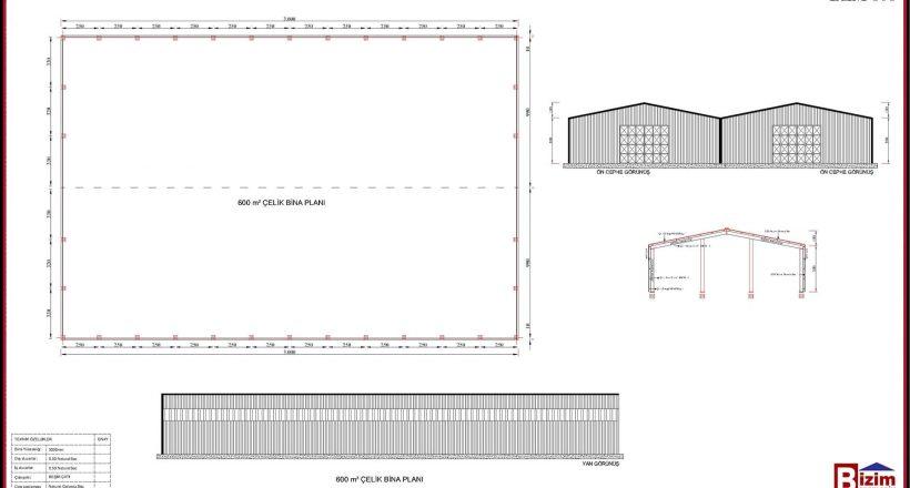 Çelik Yapı Hangar Projeleri 600m2